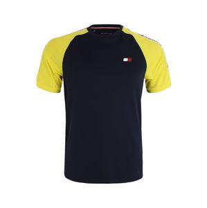 Tommy Sport Funkční tričko  námořnická modř / žlutá / bílá