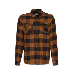 DICKIES Košile 'Sacramento'  oranžová / černá