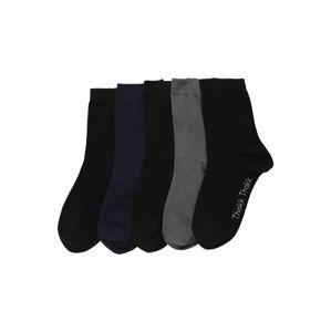 ThokkThokk Ponožky '5P MidSock Blck/Graph/Mnight GOTS&Fairt'  černá / modrá / šedá