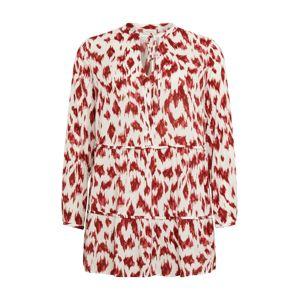 ONLY Carmakoma Košilové šaty 'WILD'  grenadina / bílá / tmavě červená