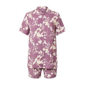 SCHIESSER Pyžamo  bílá / růže