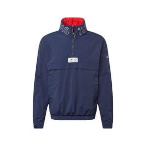 Tommy Jeans Přechodná bunda  tmavě modrá / červená / bílá