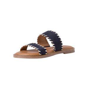 TAMARIS Pantofle  modrá / bílá