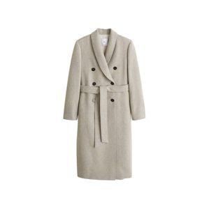MANGO Přechodný kabát  šedý melír