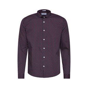 Lindbergh Košile 'Dotted print shirt L/S'  černá