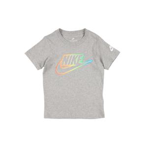 Nike Sportswear Tričko  tmavě šedá / oranžová / světlemodrá