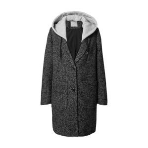 EDC BY ESPRIT Přechodný kabát  černá / šedá