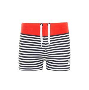 NAME IT Plavky 'ZIMBOK'  námořnická modř / červená / bílá