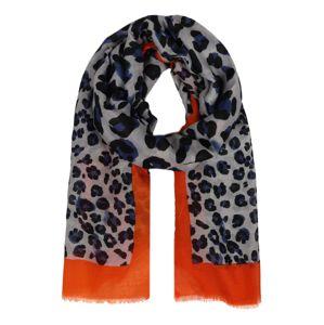 Zwillingsherz Šála ' Leopard Amanda'  oranžová / bílá / černá