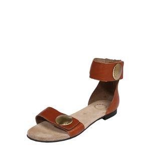 Ca Shott Páskové sandály  koňaková