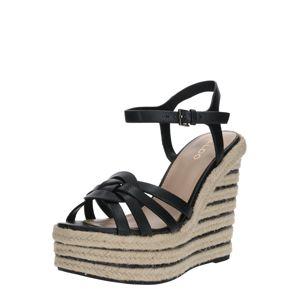 ALDO Páskové sandály 'SAMINADIN'  tělová / černá