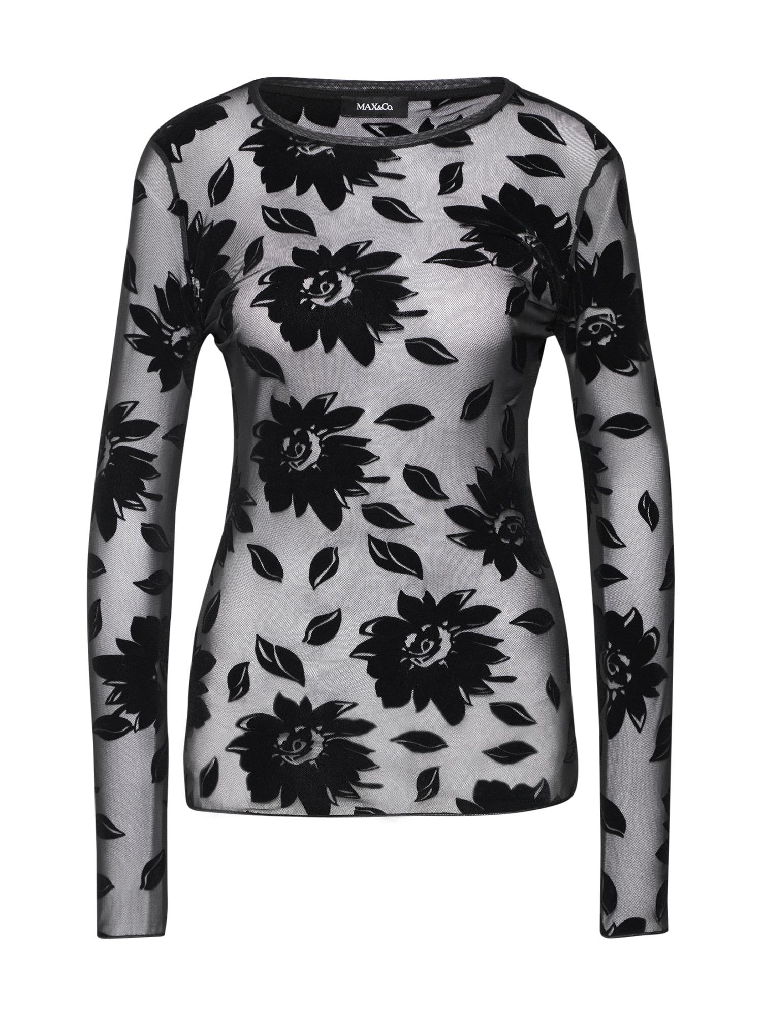 MAX&Co. Tričko 'POSTILLA'  černá / průhledná