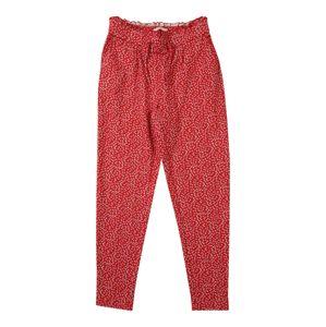 KIDS ONLY Kalhoty 'konPOPTRASH PRINT FRILL PANT'  červená