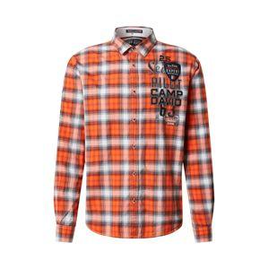 CAMP DAVID Košile  oranžová / bílá