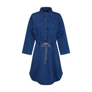 EDC BY ESPRIT Košilové šaty  modrá džínovina