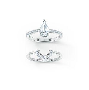Swarovski Prsten 'Attract'  stříbrná / bílá