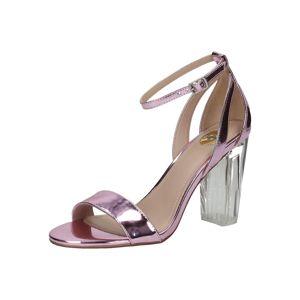BUFFALO Páskové sandály 'Perspex heei'  světle fialová / průhledná
