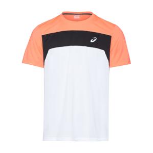 ASICS Funkční tričko  bílá / oranžová / černá