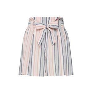 NEW LOOK Kalhoty  kouřově modrá / starorůžová / perlově bílá