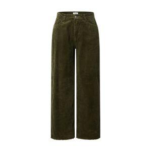JACQUELINE de YONG Kalhoty 'Kira'  tmavě zelená