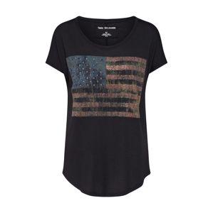 True Religion Tričko 'AMERICAN FLAG'  mix barev / černá