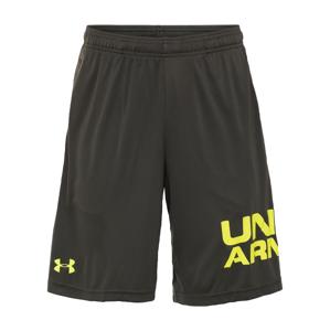 UNDER ARMOUR Sportovní kalhoty  tmavě zelená / žlutá