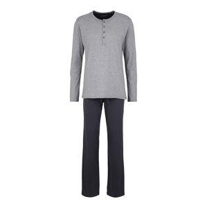 SCHIESSER Pyžamo dlouhé  šedá