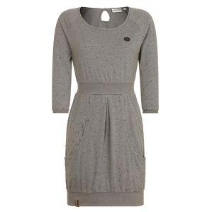 Naketano Šaty  tmavě šedá / šedý melír