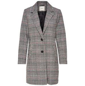 JACQUELINE de YONG Přechodný kabát 'Emma'  korálová / černá / bílá