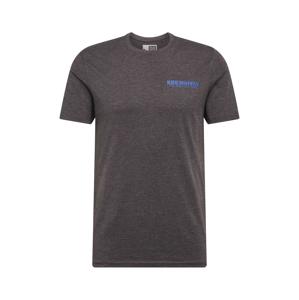 !Solid Tričko 'Matti'  tmavě šedá / modrá