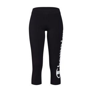 Champion Authentic Athletic Apparel Sportovní kalhoty  černá / bílá