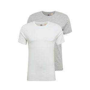 LEVI'S Tričko  šedá / bílá